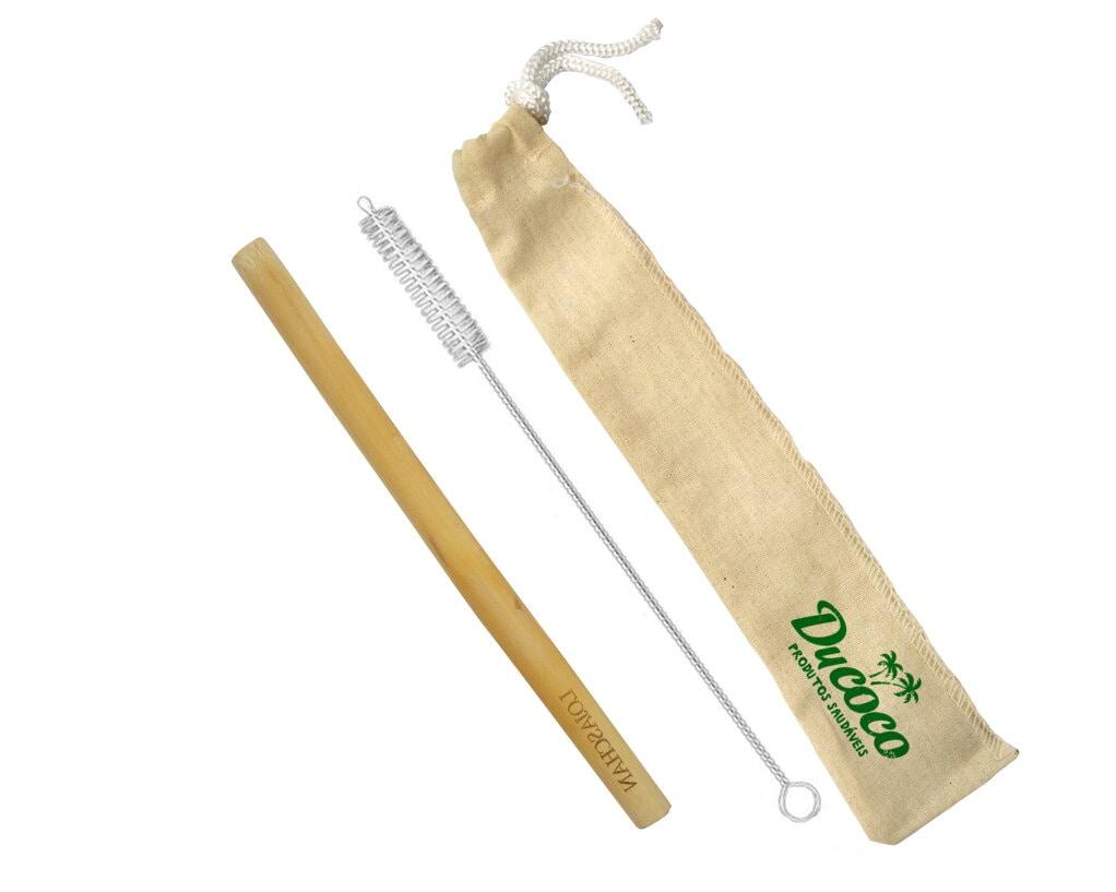 Canudo de bambu natural + Escovinha