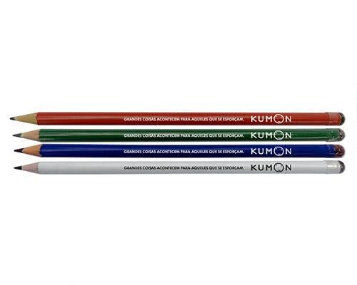 Lápis com borracha personalizada
