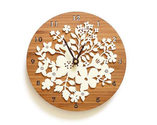 Relógio ecológico Florido