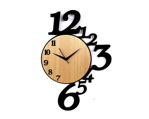 Relógio ecológico madeira