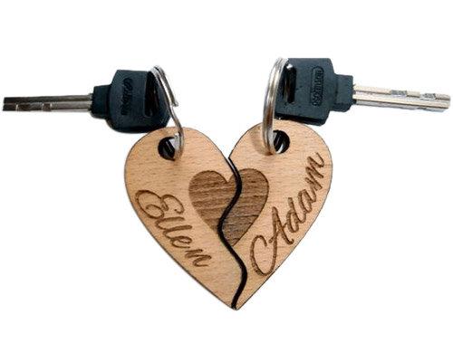 Chaveiro Duplo Coração