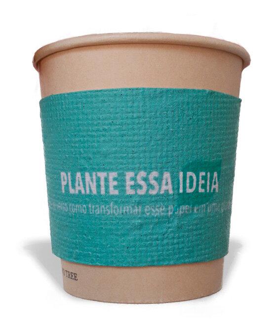 Cinta de papel semente para Copo 210 ml  (22 x 6,64cm)
