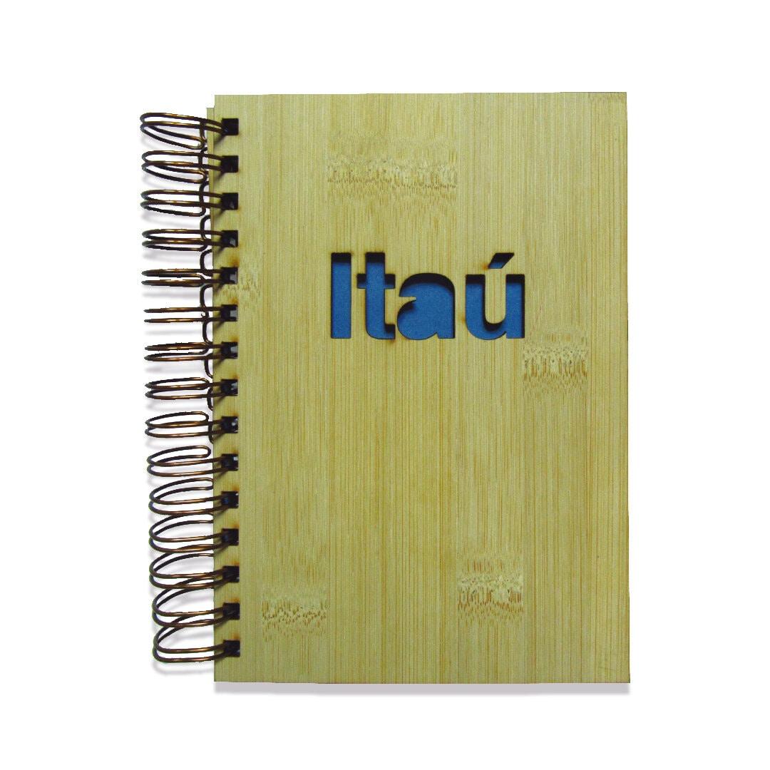 Agenda capa bambu personalizada
