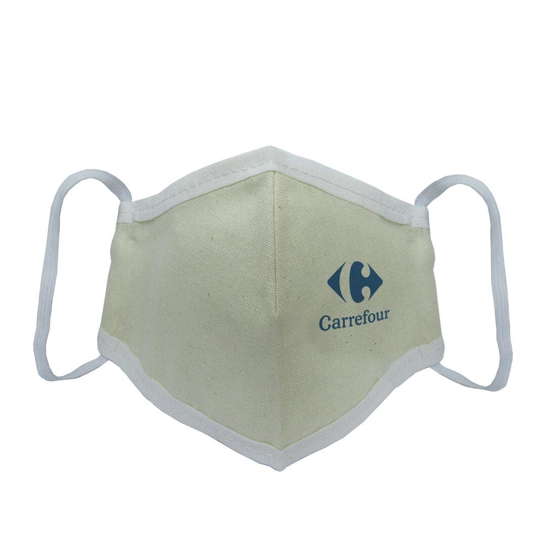 Máscara Ecológica de Algodão Cru