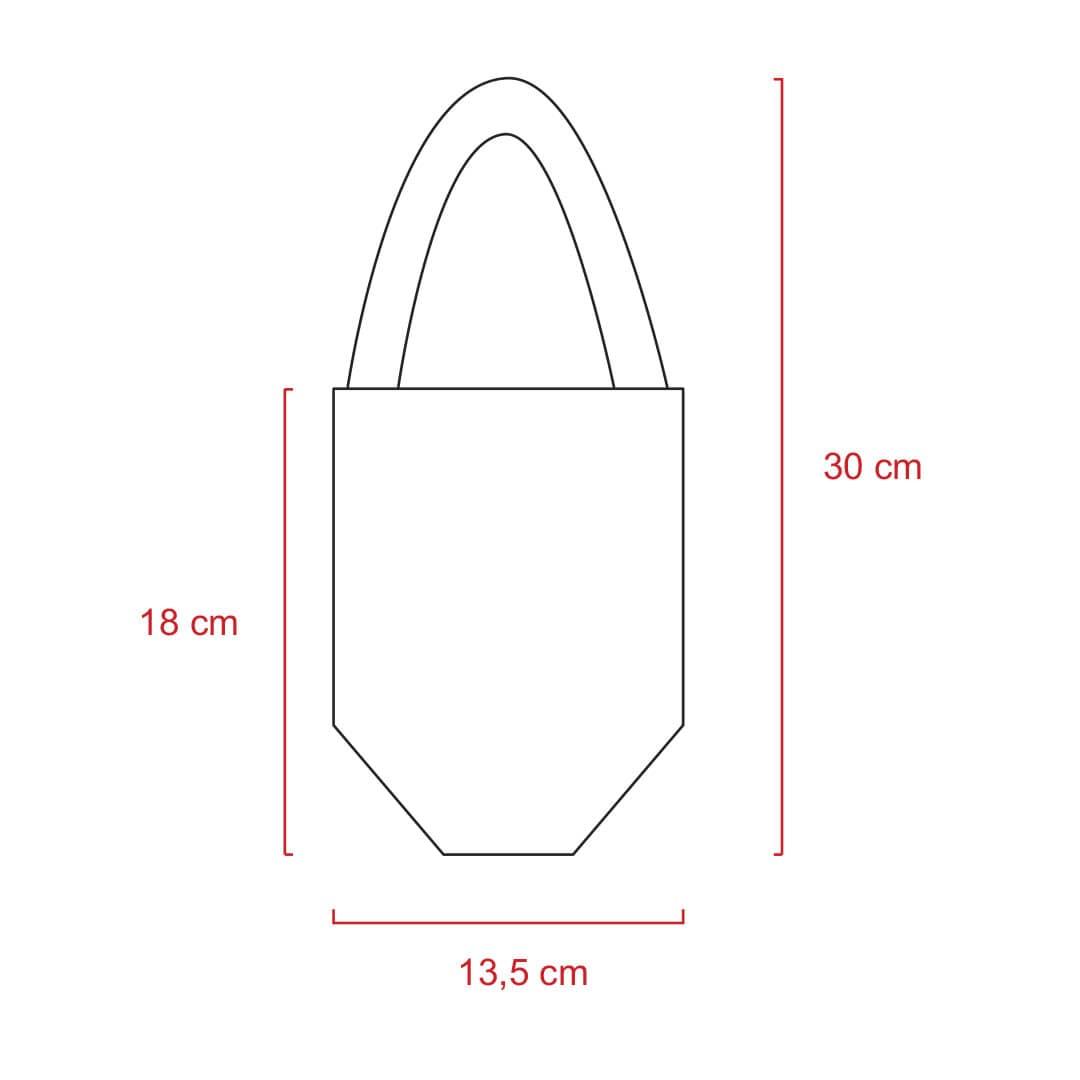 Sacolinha de Algodão 14 X 11 x 4 cm