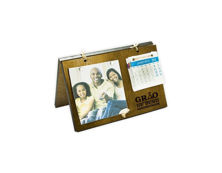 Porta retrato com calendário Papel semente