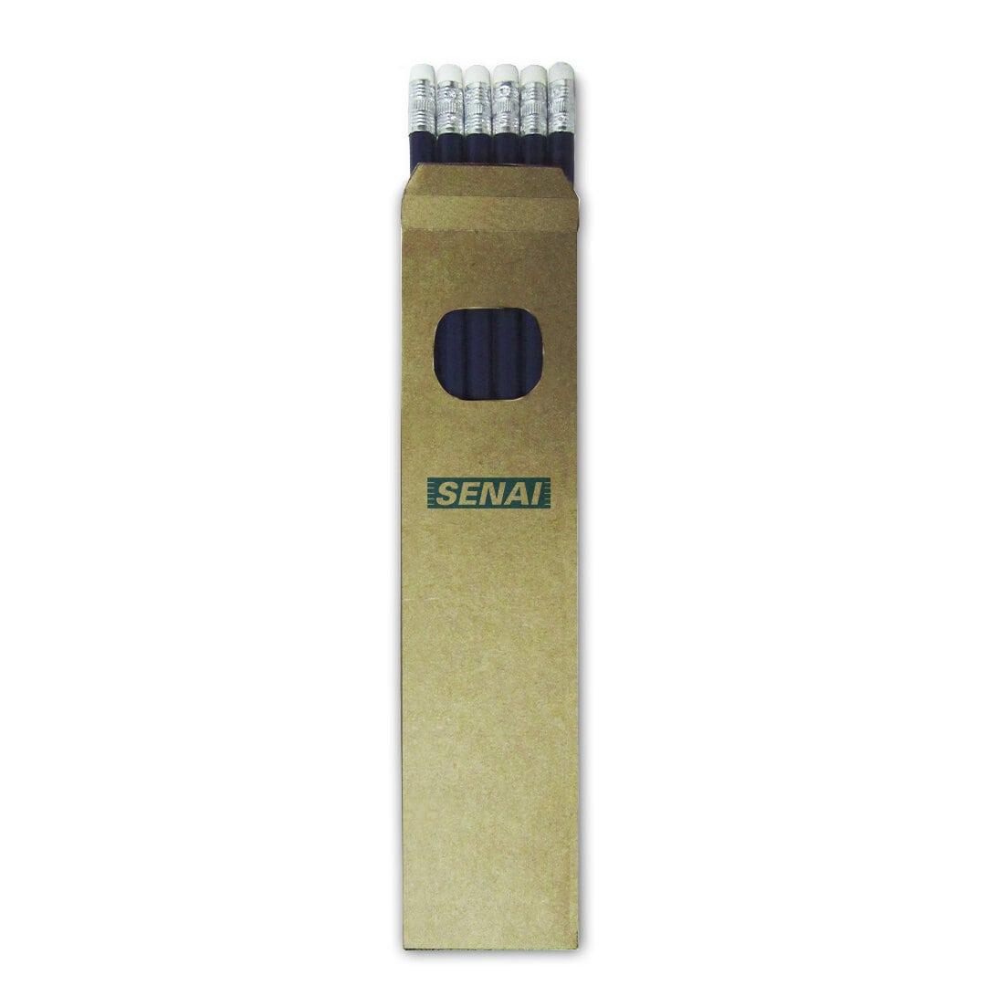 Caixinha 6 Lápis Borracha