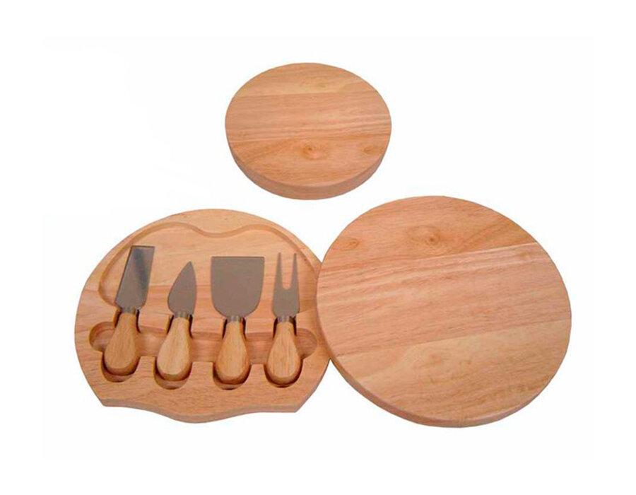 Kit Queijo de madeira com 4 peças