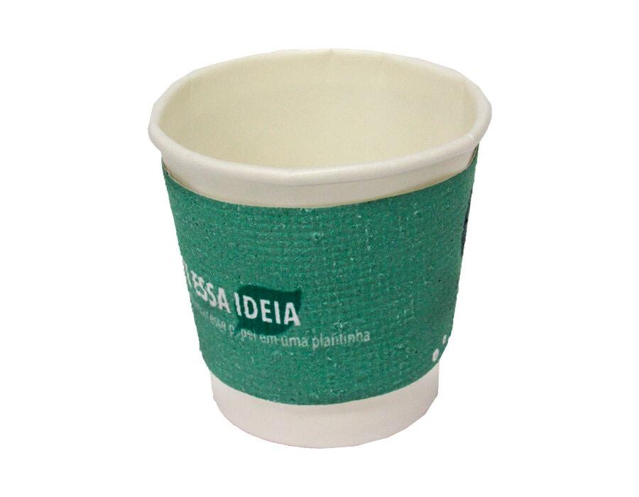 Cinta de papel semente para copo de café