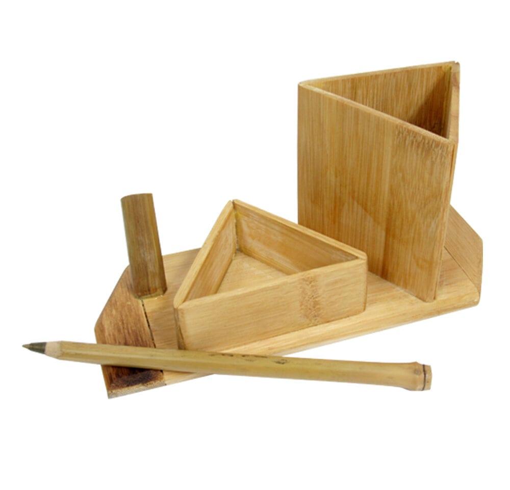 Porta canetas em Bambu