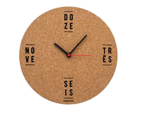 Relógio cortiça